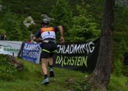 Sepp Tritscher beim Zieleinlauf